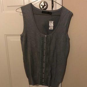 The limited gray sweater vest. New with tags